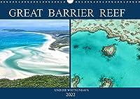 Great Barrier Reef und die Whitsundays (Wandkalender 2022 DIN A3 quer): Traumstraende und das bekannteste Riff der Welt in einem Kalender (Monatskalender, 14 Seiten )
