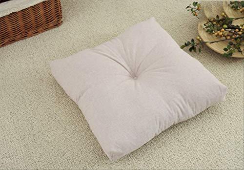 Saddpa Cream Armchair Booster Cushion Vierkant zitkussen met soft-touch katoenen kussen voor dikke drijfkracht 45x45 x 10 1.
