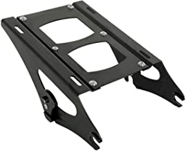 Detachable 2 Two Up Tour Pak Pack Mounting Luggage Rack For Harley Touring Road King Street Glide Road Glide 2014-2019(Black or Chorme) (black)