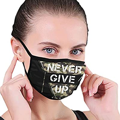 Never Give Up 1987 Fabric Half Face Mask Mouth Masks with Earmuffs Anti Dust Anti Haze Windproof Mask