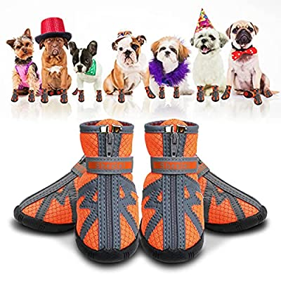 Amazon - 30% Off on Dog Booties for Small Dogs, Dog Shoes for Small Dogs Hot Pavement