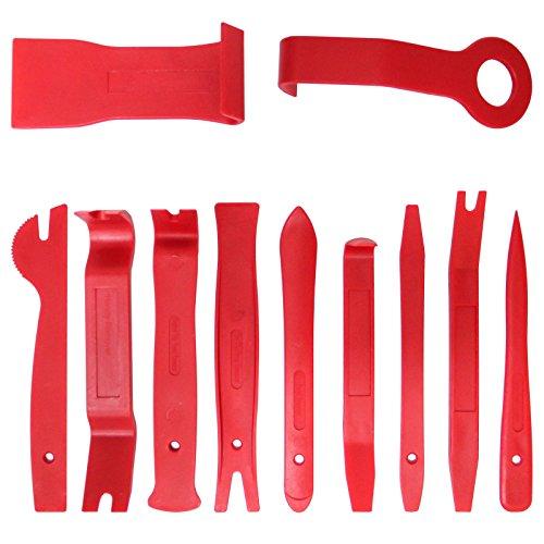Yorbay 11tlg. Auto Innen Verkleidungs-Werkzeug Zierleistenkeile-Set Demontage Ausbauwerkzeug für Entfernung Auto Fahrzeug Türverkleidung und Platten Mehrweg