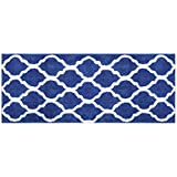 Dhfrends Microfiber Bathroom Rugs Geometric, Non Slip Bath Rugs Floor Mat Machine Washable (18x26', Grey)