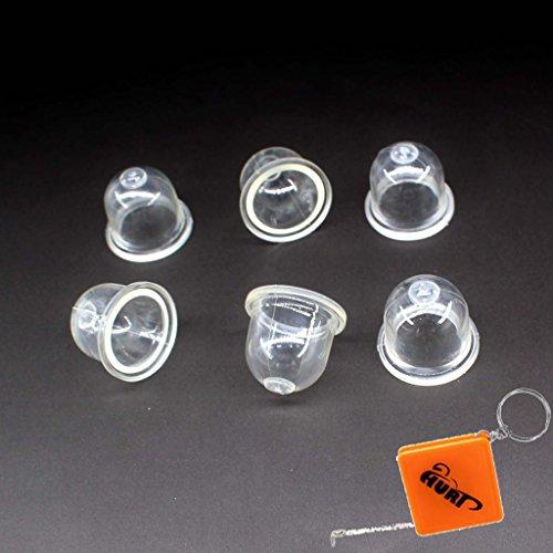HURI 6x Zündkapsel Primer Pumpe Kraftstoffpumpe für Motorsägen der Marken Dolmar Stihl Echo Ryobi mit Walbro Vergaser