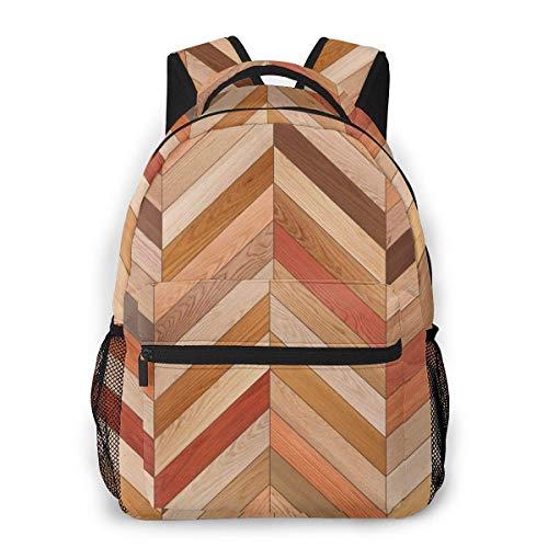 Multifunktionsrucksack Holz Parkett Textur Chevron Verschiedene Männer und Frauen Casual Style Leinwand Rucksack Schultasche,