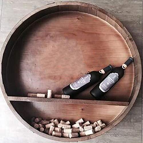 El Decorativo Barril de Roble, colgado Fotografía barril de vino del corte de la mitad pared del barril de cerveza de barril pared de la barra de boda Puntales-hecho a mano estante del vino A ++