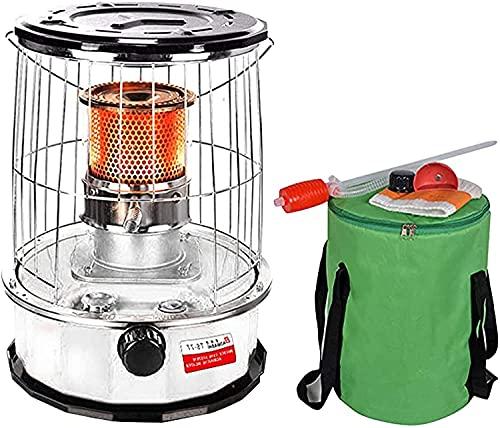 YAOJIA Calefactor, Radiador Calentador De La Estufa De Keroseno For El Camping De Pesca con Hielo, Quemador De Vidrio De Acero Inoxidable De Acero Inoxidable Liviano For Patio Al Aire Libre
