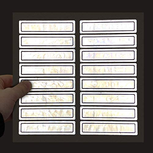 MyHardHatStickers Silver Retro Reflective Helmet Strips 1 x 4 Pack of 16 product image