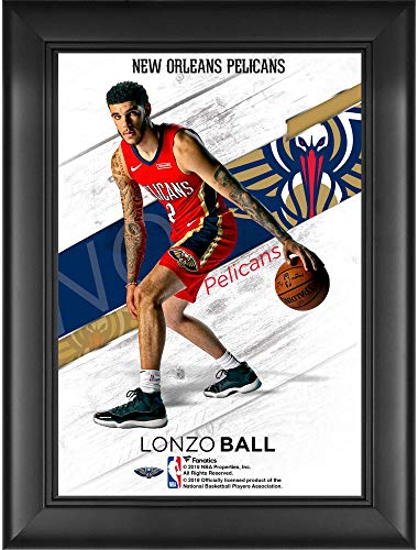 Lonzo Ball New Orleans Pelicans Framed 5' x 7' Jersey Swap Collage - NBA Player Plaques and Collages