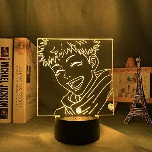 3D Anime ilusión nocturna – Jujutsu Kaisen Anime Lámpara de noche LED – 7 colores regulables – Decoración de dormitorio lámpara de mesa – Niños Navidad regalos de cumpleaños