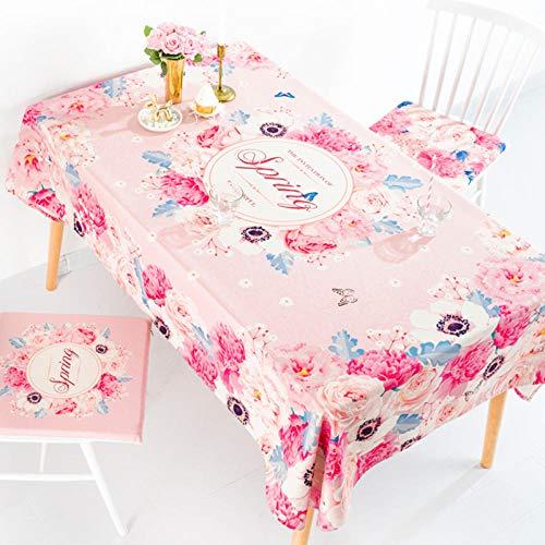LIUJUAN Nappe Table Toile Cirée Coton Et Lin Table Basse Ménage Rectangulaire Table Nappe TV Comptoir Tissu-Le Mariage D'Hélène_140 * 140Cm Épaissi