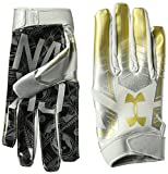 Under Armour F6 LE Herren American Football Handschuhe Metallic Silver - x-Large