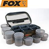 Fox Camolite Glug 8 Pot case 23x16x10cm - Ködertasche für Angelköder, Tackletasche für Boilies &...