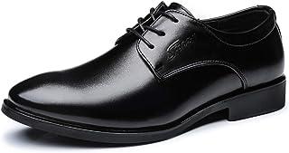 [CHENJUAN] 靴男性ビジネスオックスフォードカジュアル快適なクラシックピュアカラーラウンドトゥ紳士スタイルフォーマルシューズ
