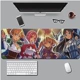 Sword Art Online Alfombrilla Raton Anime Gaming Mouse Pad XXL 900x400x3 mm,Impermeable con 3mm Base de Goma Antideslizante,Special-Textured Superficie para Ordenador, PC y Laptop-A1__400*800*4mm