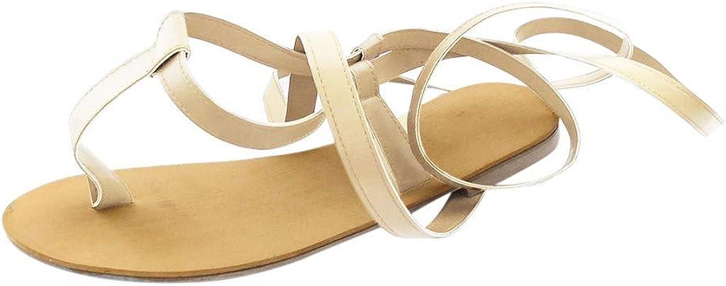 Sandals for Women,Women's 2021 Comfy Strap Roman Sandal Shoes Op