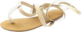 Mujer Zapatos Open-Toe Strap Roman Wind Straps Toe Sandalias Planas Zapatos De Gran TamañO 2019 Verano Nuevos Zapatos De Mujer