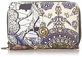 Desigual Accessories Fabric Medium Wallet, Tamaño Mediano. para Mujer, Negro, U