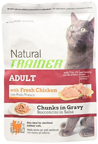 Trainer Natural für ausgewachsene Katzen, Nassfutter Huhn, 85 g