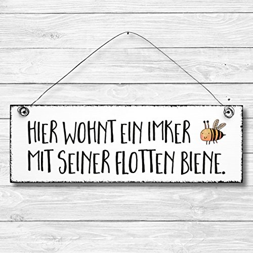 Schiefertafel  « BESTER IMKER » Schild mit MOTIV Biene Honig Imkerei