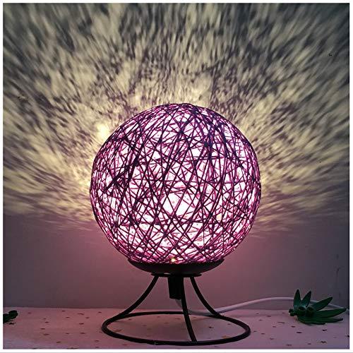 Simple Moderna Bola Creativa luz Nocturna Dormitorio cabecera Moda Arte romántico decoración de la Sala atenuación Regalo lámpara de Mesa