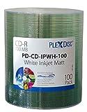 PlexDisc 52x 700MB Inkjet superficie imprimible CD-R paquete de 100 discos