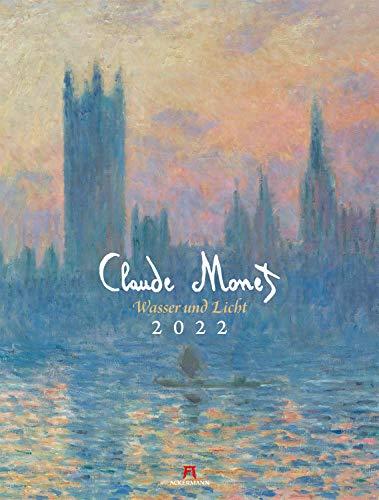 Claude Monet Kalender 2022, Wandkalender im Hochformat (50x66 cm) - Kunstkalender (Impressionismus)