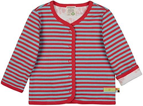 loud + proud Unisex Baby Wendejacke, GOTS Zertifiziert Jacke, Chili, 86/92