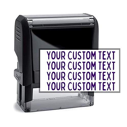 Custom Address Stamp - 3 Line Address Stamp - 20 Font Options - Self-Inking Address Stamp (4 Line Stamp)