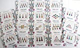 12 Combo Bindi Packs All in One- Multicolored Face Jewels Bindi Stickers Indian Forehead Tika
