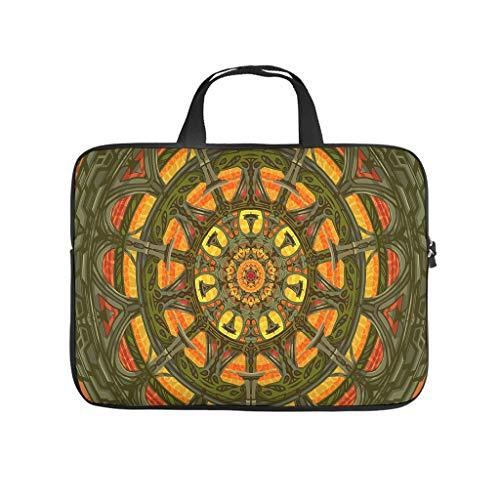 Bolsa para portátil con diseño de mandala, resistente al agua