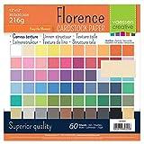 Vaessen Creative cartoncino Tela Texture Album di Carta, Carta, Multicolore, 30.5x 30.5cm, 60Fogli
