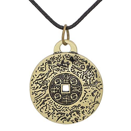 Crewell Collar con colgante de talismán, The Properties of Feng Shui Money Amulet Collar de estilo vintage, joyería de regalo para hombres y mujeres