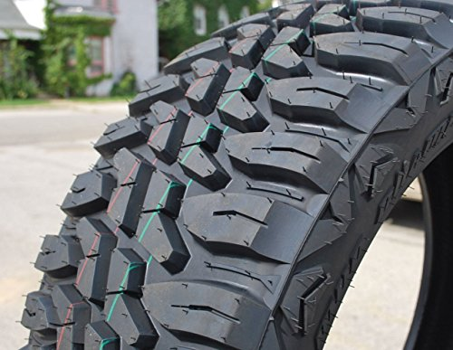 Set of 4 (FOUR) Haida Mud Champ HD868 Mud Off-Road Light Truck Radial Tires-LT275/65R20 275/65/20 275/65-20 126/123Q Load Range E LRE 10-Ply BSW Black Side Wall
