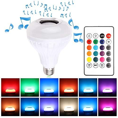Winbang Lampadina Dell'Altoparlante del Bluetooth, Lampadina E27 7W LED Bluetooth 4.0 Musica Audio RGBW Lampada Dell'Altoparlante Luce RGB con Telecomando per iOS Android (1Pc)