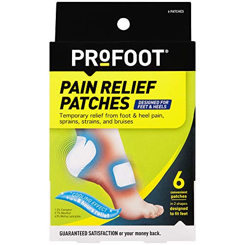 PROFOOT, Pain Relief Patches, 6 Count, The only Pain Patch Designed for feet. Temporary Pain Relief from Plantar Fasciitis, Sprains, Strains or Bruises.