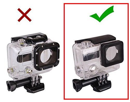 Vicdozia Waterproof BacPac Back Door Case Compatible with GoPro BacPac LCD Screen/Expansion Extended Battery BacPac, for GoPro Hero 4/3+ Original Standard Waterproof Housing Case