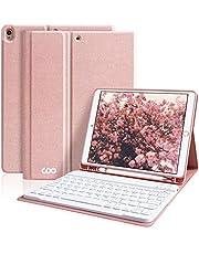 iPad Pro10.5 (2019 カバー) ケース キーボード ipad air3 キーボード pencil収納付き ワイヤレス Bluetooth 着脱式キーボード付き オートスリープ スタンド機能 iPad 10.5インチ対応