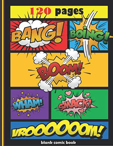 blank comic book for kids and adults with variety of templates: Create Your Own Story, Comics & Graphic Children Comic Book Maker with variety of ... | Creative Gift Idea | Drawing books |