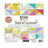 Artemio Best of Summer Set de 180 Papeles para álbumes de Recortes, Multicolor, 30,5 x 2,3 x 30,5 cm