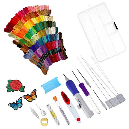 HEALLILY Kit de bordado de aguja de perforación Magic Embroidery Pen Set de aguja de...