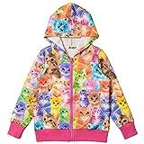 Jxstar Little Girls Cat Hoodie Long Sleeve Outwear Full Zip Pocket Jacket Coat