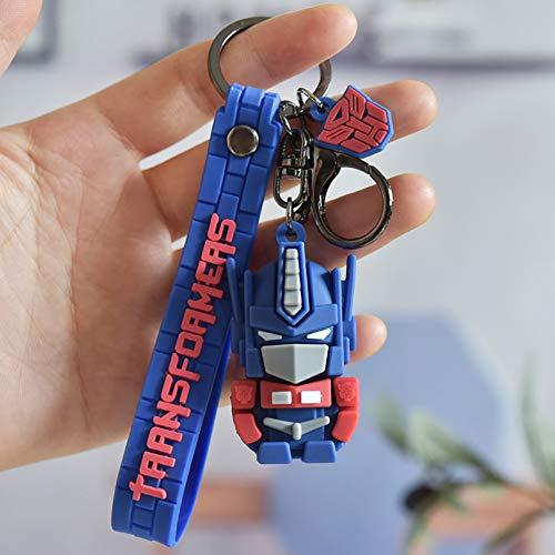 Keerock Transformers Schlüsselbund Cartoon Film Auto Schlüsselanhänger Cool Kid Bag Anhänger Schlüsselring Kinder Geschenke