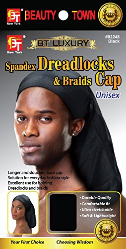 Beauty Town Luxury Spandex Dreadlocks & Braids Cap - Black