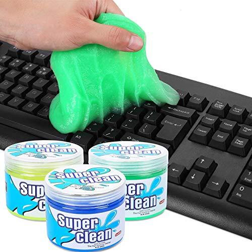 FORMIZON 3 Stück Tastatur Reinigungsgel, Tastatur Reinigung Super Clean Gel, Staubreiniger für Handys, Computer, Auto, Laptops, Auto Entlüftungsöffnungen, Kameras, Drucker, Taschenrechner