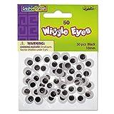 Creativity Street Children's Art Wiggle Wiggly Eye, Black, White 50 per Pack