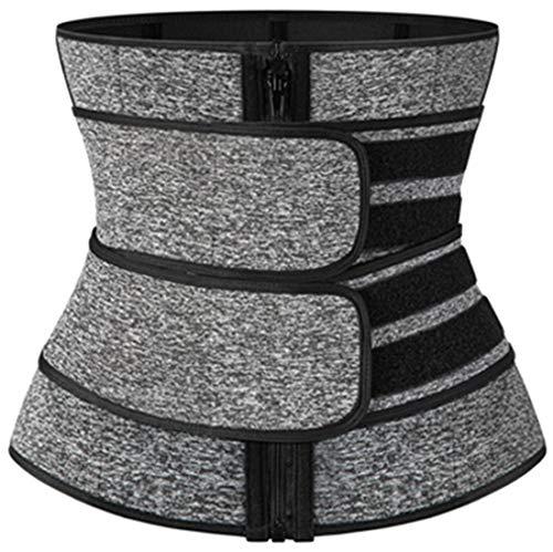 PANOZON Donna Bustini e Corsetti Cinturone Dimagrante Ossa di Plastica Cinghie Regolabili Waist Trainer (Small, Grigio-1)