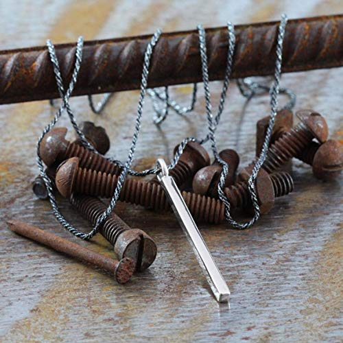 Geometric Mens Necklace Sterling Silver Man Carpe Diem Jewellery
