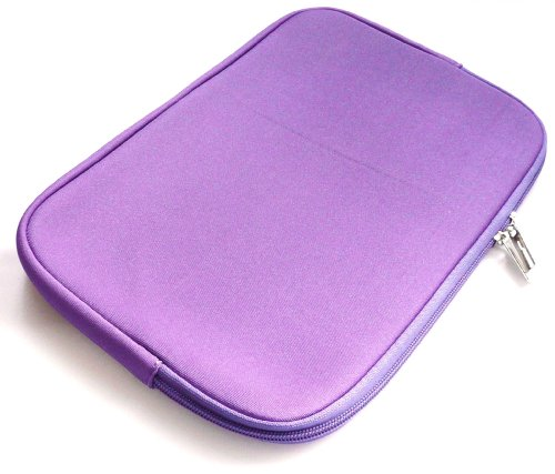 Emartbuy® Lila Wasserabweisende Weiche Neopren Hülle Schutzhülle Sleeve Hülle mit Reißverschluss geeignet/Schutzhülle Passend für Sony VAIO Duo 13 Convertible Ultrabook (13-14 Zoll Laptop/Notebook)