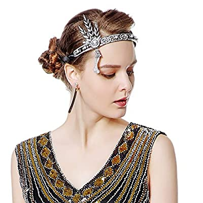 Metme Flapper Headband Bling Rhinestone Pearl Wedding Headpiece 1920s Gatsby Themes Party Accessoires
